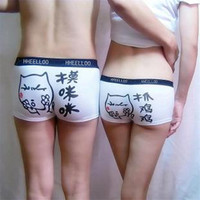 2010 couple briefs new lovers men briefs women boxer shorts knickers 2pc underwear for young fashion Arab people underpants