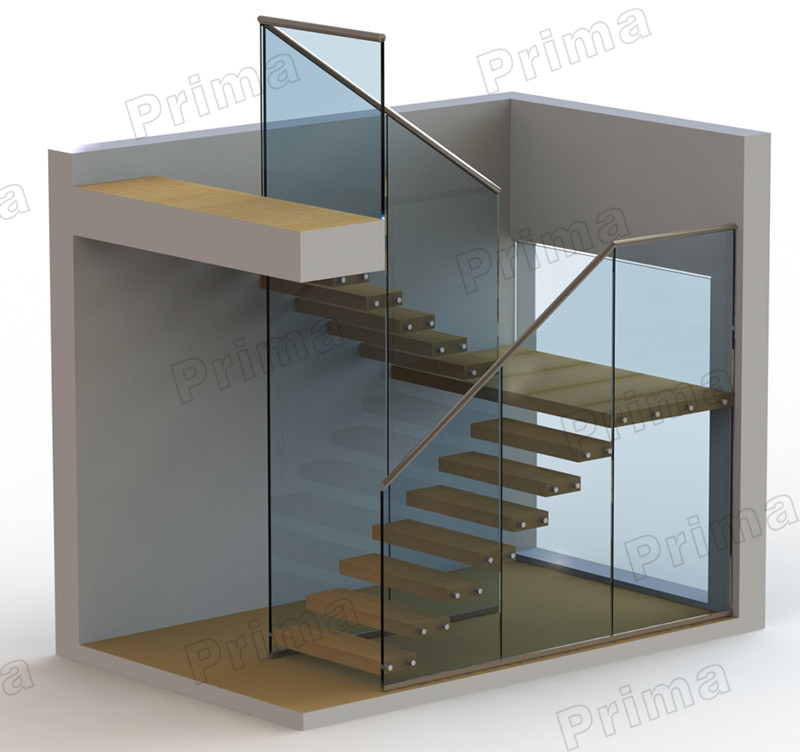 Treads staircase design glass staircase railing view glass staircase