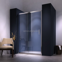 Top sanitary ware Frameless sliding bath shower screens with aluminium frame with fixed panel bath shower screens