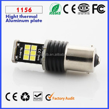 12V 850LM Auto S25 ba15s lamp Car LED ba15s Canbus lamp Decoder lamp 15 SMD 2835 3528 Yellow Red White