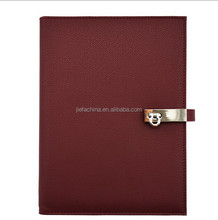 eco-friendly high quality leather classic lady notebook gift