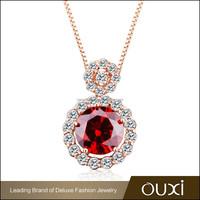 OUXI wholesale imitation AAA Zircon necklace hot buy jewelry in china