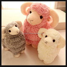 cute soft stuffed toy lamb with customized design