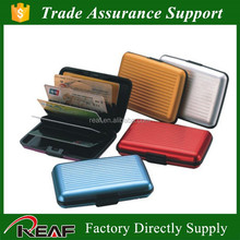 ABS Material and Credit Card holder business men's wallet fashion aluma aluminium wallet