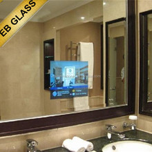 wall mounted TV mirror, Hidden Television Mirror for hotel, Waterproof LCD TV EB GLASS BRAND