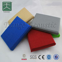 Fabric wall and ceiling acoustic board