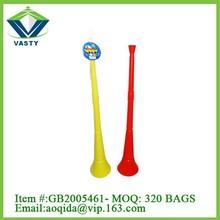 Plastic cheering horn football custom vuvuzela horn