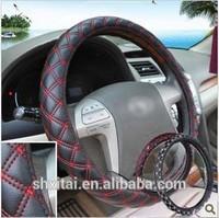 20pcs 38CM Fashion 4 season-use leather Car Steering Wheel Covers
