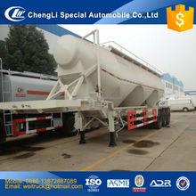 chinese cheap tri axle three comparments 60 cbm bulk flyash tanker semi trailer for hot sale