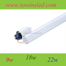 Good price T8 China UL led tube light t8 with 9w/ 18w/22w 85-260v ac tube led light
