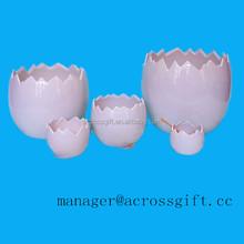 Custom pink ceramic easter broken egg holder for sale
