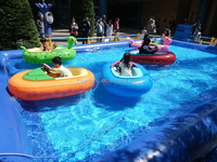 2-Battery Operated Kids Dodgem Bumper Boat for Water Sports