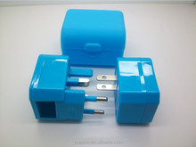 Universal EU US UK Socket to aus Plug Power Adapter Blue AC 250V 10A