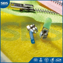 SBS brand zipper ,metal zippers for sale,Brand new 3# plastic zipper close-end for shoes