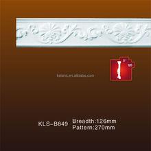 Heat Resistance Flower Pattern Cornice Mouldings KLS-B849