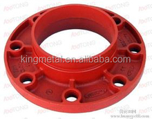 "2""-10""Ductile Iron Pipe coupling / grooved adaptor flange ANSI Class 150/ grooved adaptor flange PN16"