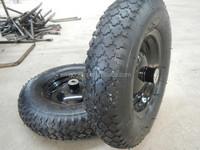 garden cart wheel assembly 4.00-8