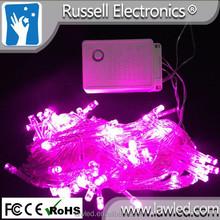 AC110V/220V 10 meter 100 lamp beads LED christmas lighting pink color lights