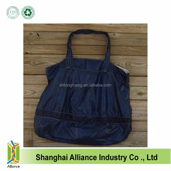 LARGE NAVY BLUE NYLON RIPSTOP PARACHUTE SLIDER TOTE BAG