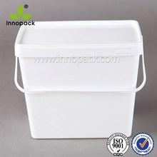9L retangular de plástico balde plastic container atacado