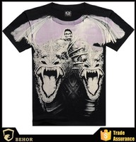 Low price Short sleeve adult 3D T-shirt wholesale men's T-shirt Europe and the United States big yards men's