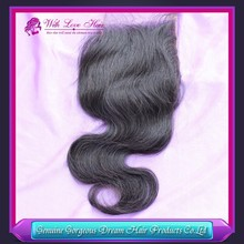 "lace closure gorgeous closure body wave, free part, french lace with baby hair size 4""*4"""