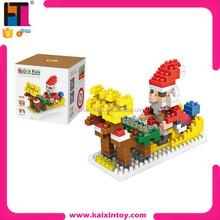 kids plastic diy educational toy mini figure nano blocks