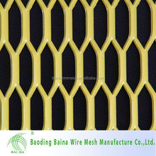 Perforated stainless steel metal fence