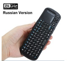 Rii Russian Version RF Mini Wireless Keyboard 2.4g with Touchpad for lg Smart tv Handheld English Arabic German available