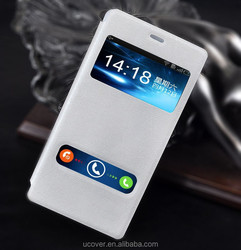 For Sony Xperia Z4 smart phone window stand flip leather case cover