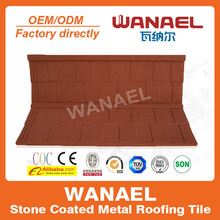 Wanael modern anti-uv stone coated metal roof tile/ villa decorative longspan roof