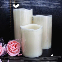 halloween wedding favors handmade 100% paraffin wax color changing led candle for wedding party