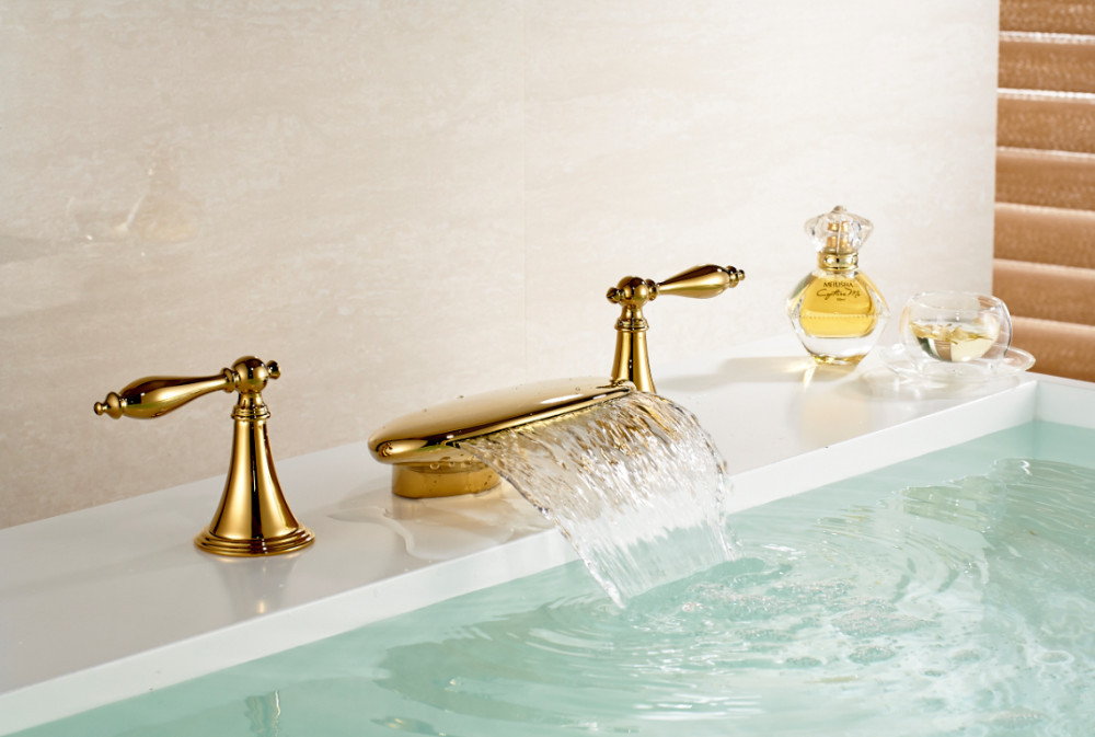Gold bathroom sink