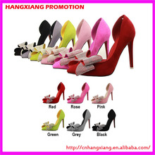 China retail pointed toe stiletto heels shoes women high heels side hollow pumps