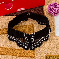 New Design Lady's Vintage Spring Shirt Collar Band With Hand-beading