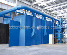 Sand blasting room with simple structure,short manufacturing time , energy saving