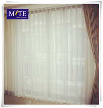 100% polyester plain voile fabric wedding decoration curtain