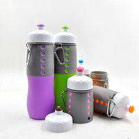 wholesale silicone foldable water bottle, unique custom silicone sports bottle