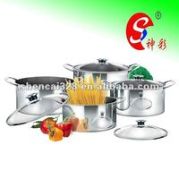 Stainless Steel Shallow Stock Pot Sets, Kitchenware, Casserole Sets