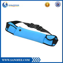 Custom logo navyblue cell phone belt bag
