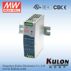 Mean Well 120W 24v switching power supply din series power supply slim and high efficiency