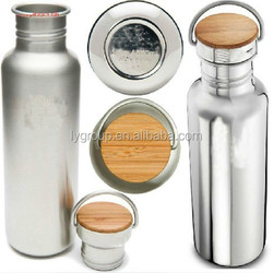Klean Kanteen Stainless Steel Water Bottle, Made of 18/8 Stainless Steel sports bottle with bamboo lid