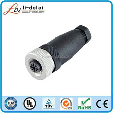 IP67 male female circular M12 connector 8 pin M12 Type T connector with 8pins m12 shape connector