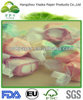 FDA certificated wax coated White color candy wrapper candy paper