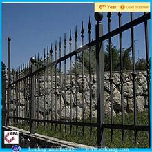 Patio trasero valla metálica, Jardín de la cerca del metal panel de la cerca, Lanza la tapa del metal valla
