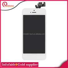 2014 top sale lcd for iphone 5 lcd screen,for iphone 5 gold housing