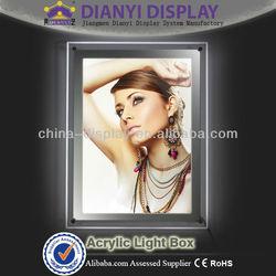 A1A2A3A4 landscape crystal light box,led light picture frame,a2 size acrylic frame