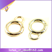 Shinny Gold Plated Zinc Alloy Special 8 O Rings