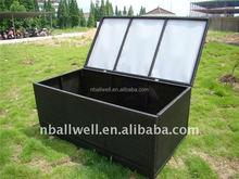 AWRF6160 garden rattan storage box from NINGBO supplier