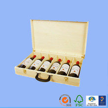 flat pack gift box popular fancy wine box wooden box the latest packaging